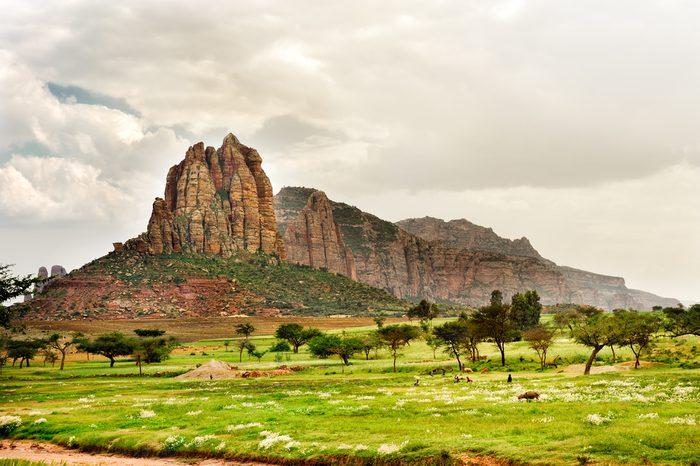 Landscape shot in Tigray province, Ethiopia, Africa