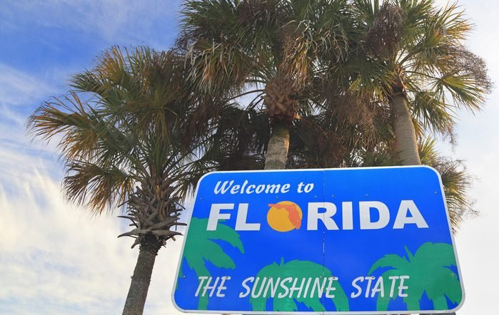 """""""Welcome to Florida"""" sign"""