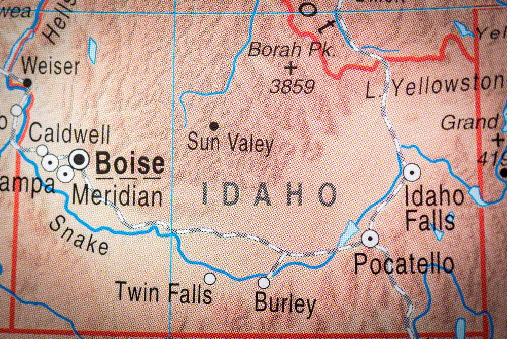Map view of Idaho State