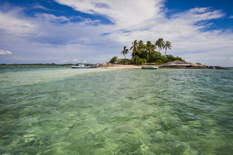 Beautiful View of Belitung, a tourist destination in Bangka Belitung Province, Indonesia