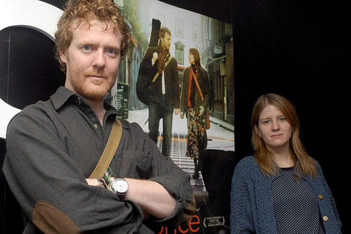 Irish Musician Glen Hansard (l) and Czech Singer and Actress Marketa Irglova (r) Pose During the Presentation of Irish Film Director John Carney's Lastest Movie 'Once' in Madrid Spain 29 October 2007 'Once' is a Musical Movie That Tells the Incredibly Story of Two Strangers Brought Together Through Music Spain Madrid