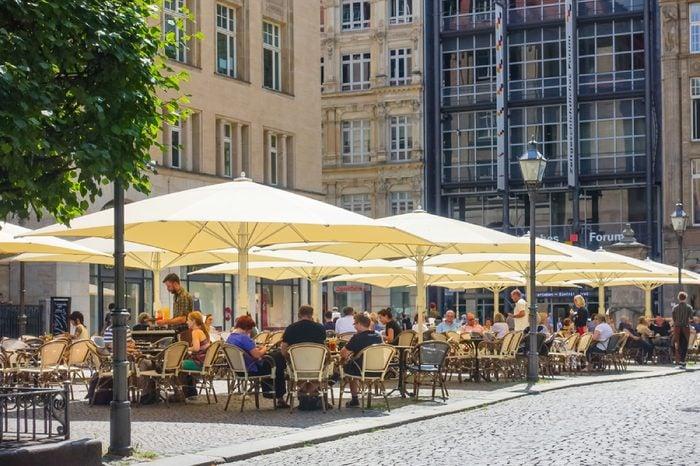LEIPZIG, GERMANY - July 21, 2017: General City Landscape Leipzig, Germany