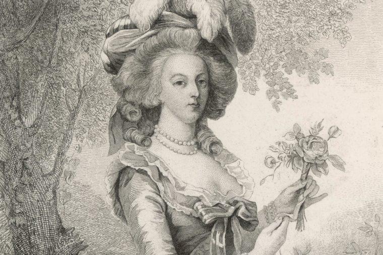 Marie Antoinette Picking Flowers 1755 - 1793