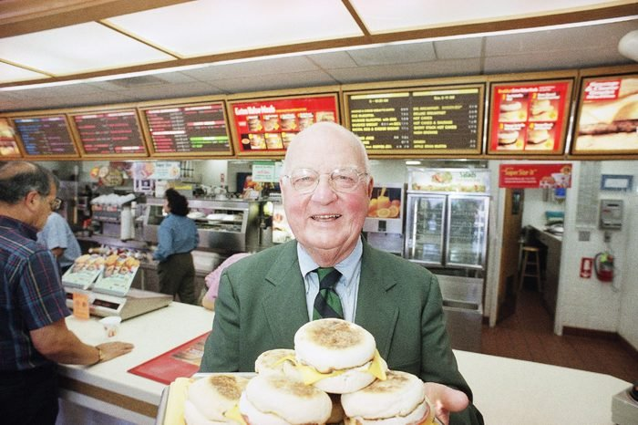 Herb Peterson Herb Peterson, the creator of the Egg McMuffin, shows off his invention, at one of his McDonalds franchises in Santa Barbara, Calif