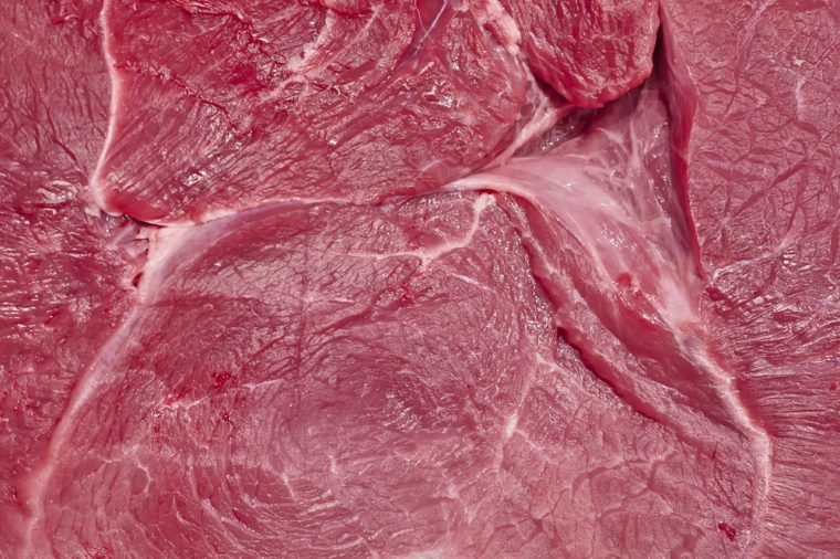 fresh raw meat closeup