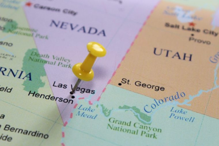 Las Vegas pinned on the map.