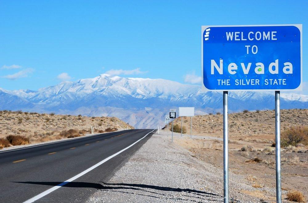 Welcome to Nevada sign