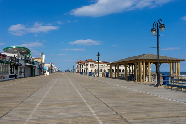 New Jersey/USA - April 10, 2018 : Ocean city Boardwalk