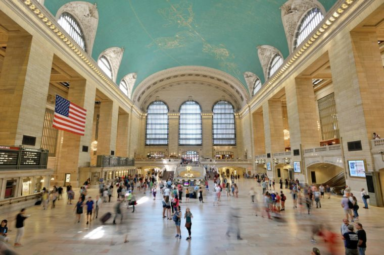 NEW YORK CITY - AUG. 26: Interior of the Grand Central Terminal on August 26, 2017 in New York City, NY. Grand Central Terminal is a commuter, rapid transit, and intercity railroad terminal in NYC