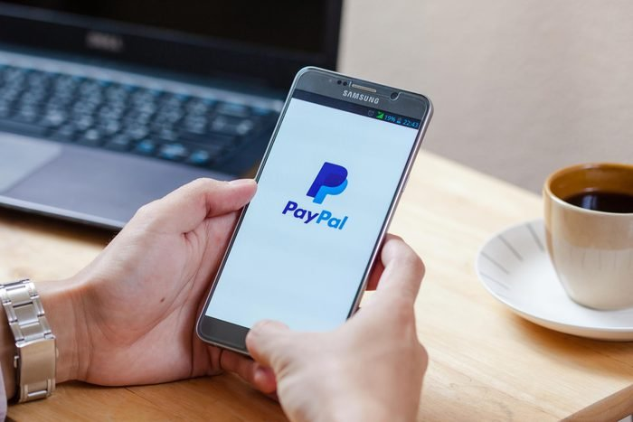 Paypal app on a cell phone