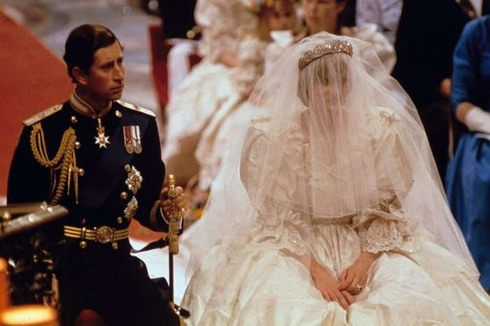 Prince Charles, Princess Diana Prince Charles and Lady Diana Spencer are shown on their wedding day at St. Paul's Cathedral in London on