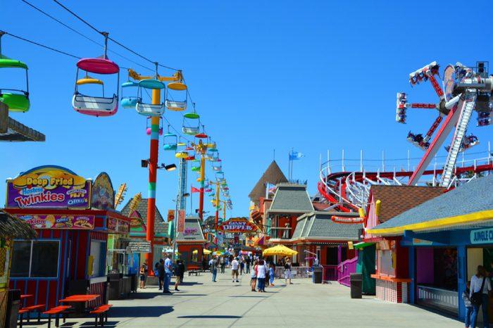 SANTA CRUZ CA USA 04 14 15:The Santa Cruz Beach Boardwalk is an oceanfront amusement park in Santa Cruz, California. Founded in 1907, it is California's oldest surviving amusement park