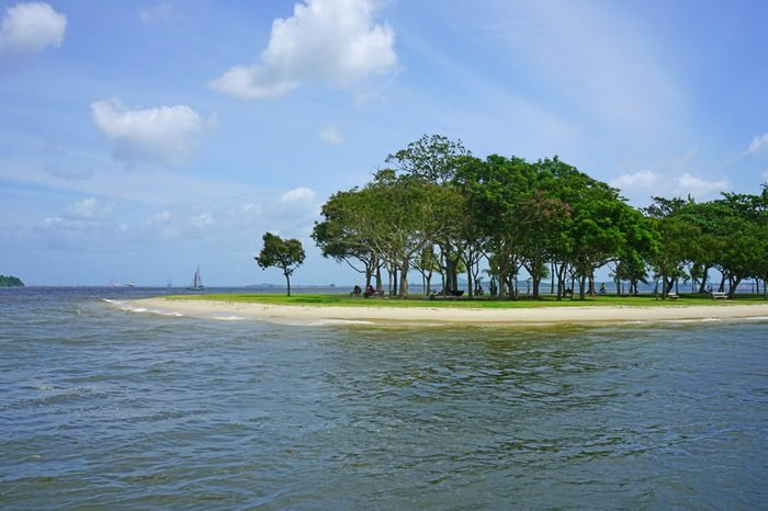 View of Changi Beach Park in Singapore