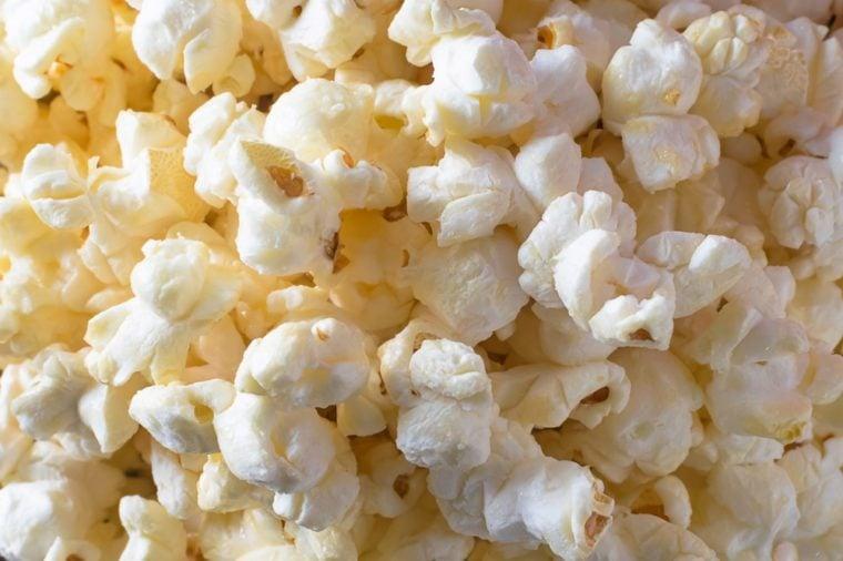 Popcorn texture. Popcorns as background. A lot of popcorn