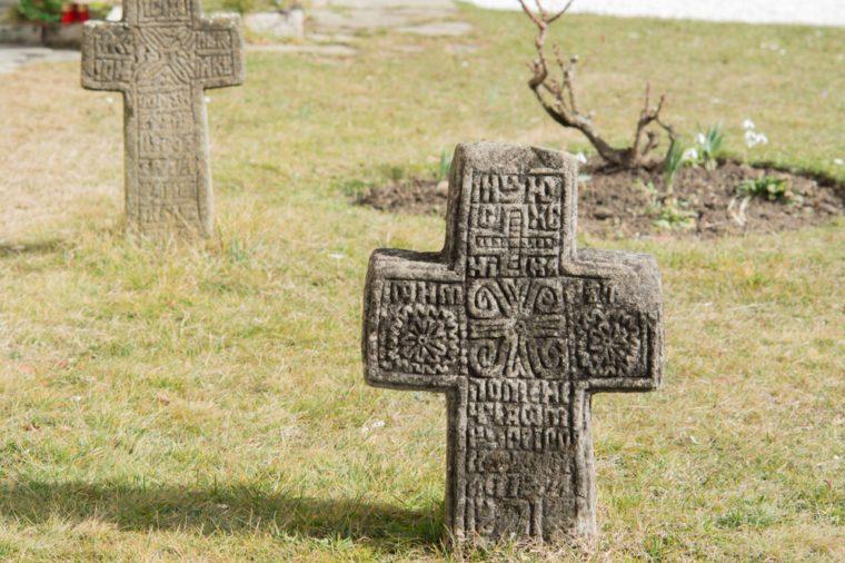 old cross in a graveyard