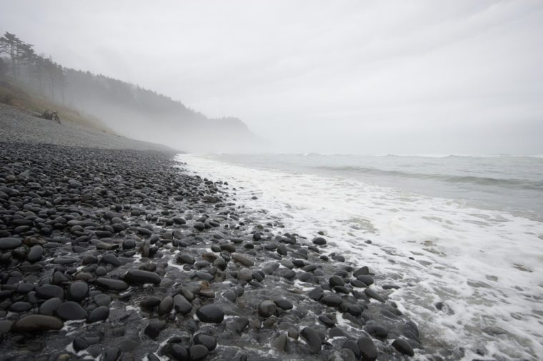Stormy Oregon coast, Falcon Cove, Manzanita, Oregon