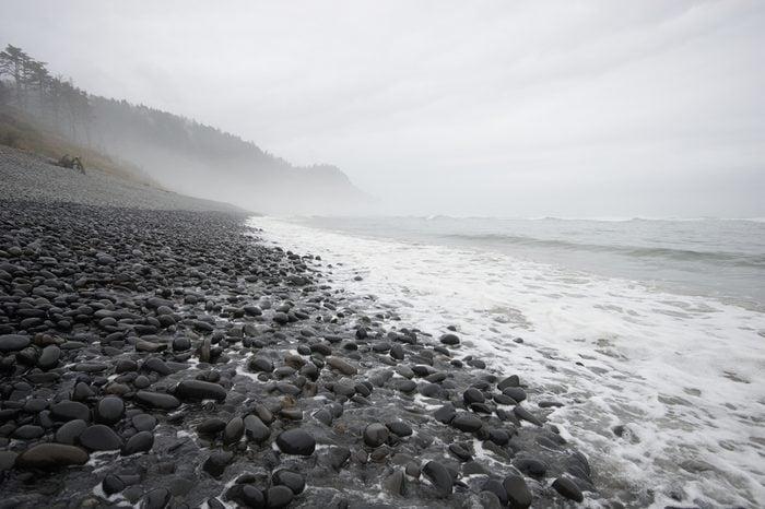 Stormy Oregon coast, Falcon Cove, Manzanita, Oregon
