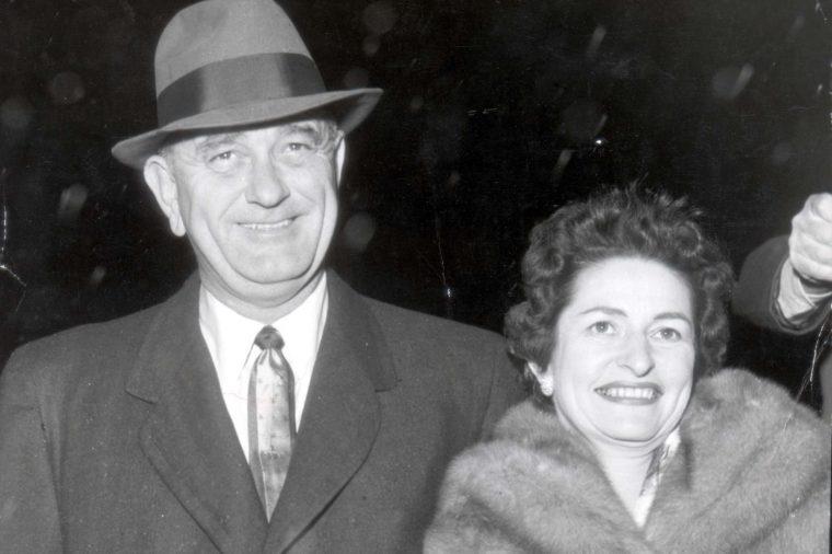 President Lyndon B. Johnson And Wife Lady Bird