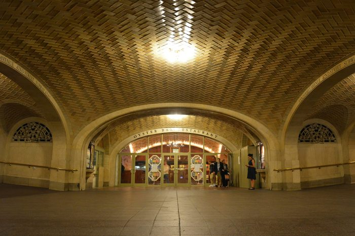 New York City, United States of America - September 29, 2015. Whispering Gallery of the Grand Central Terminal in New York City, with people.