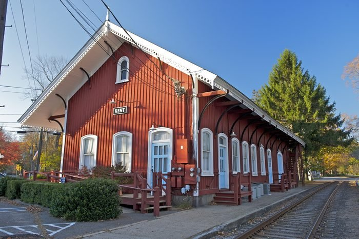 The Old train station, Kent, Connecticut, USA