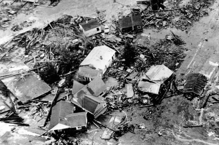1964 Alaska Earthquake A 30 foot high tidal wave caused by the 9.2 earthquake destroyed low lying areas of coastal town of Seward.