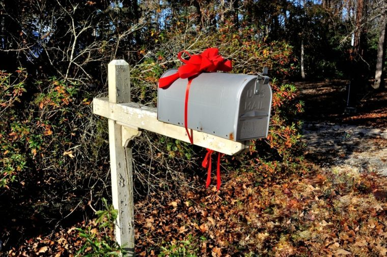 Christmas mailbox at countryside
