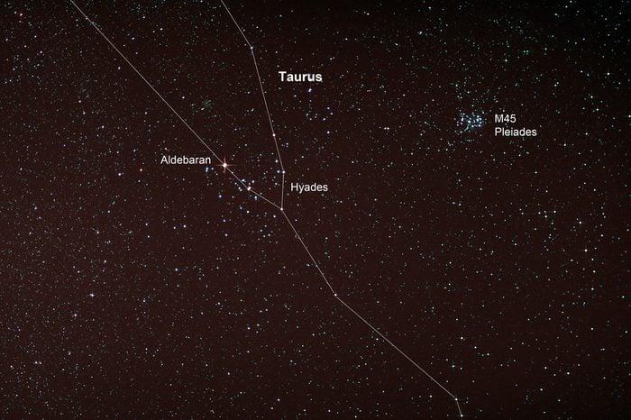 Astro Photo: Starfield with Taurus and Pleiades