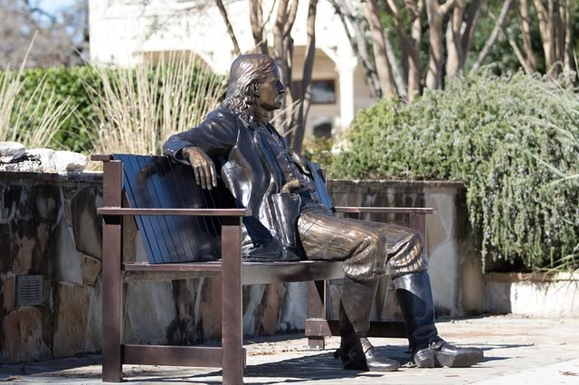 the statue of wild bill in boerne texas