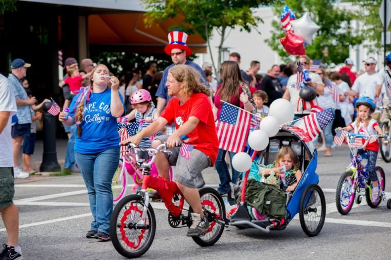 JULY 4 2015, BARNSTABLE COUNTY, MA, USA: people on parade