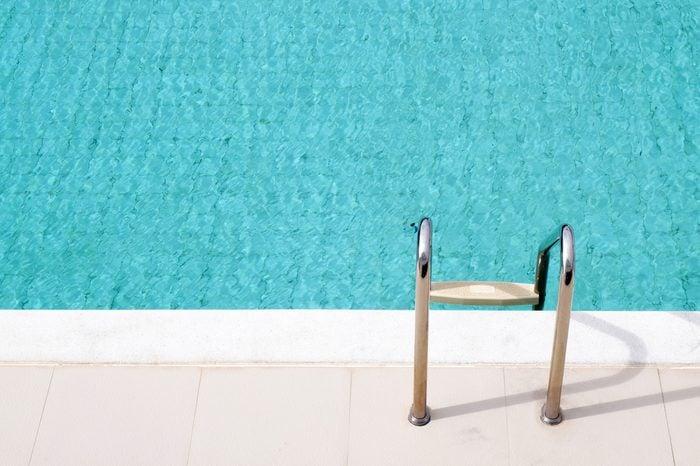 Stair swimming pool in hotel pool resort.