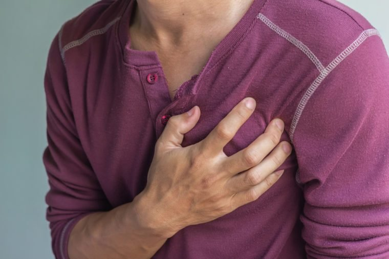 asian man with chest pain