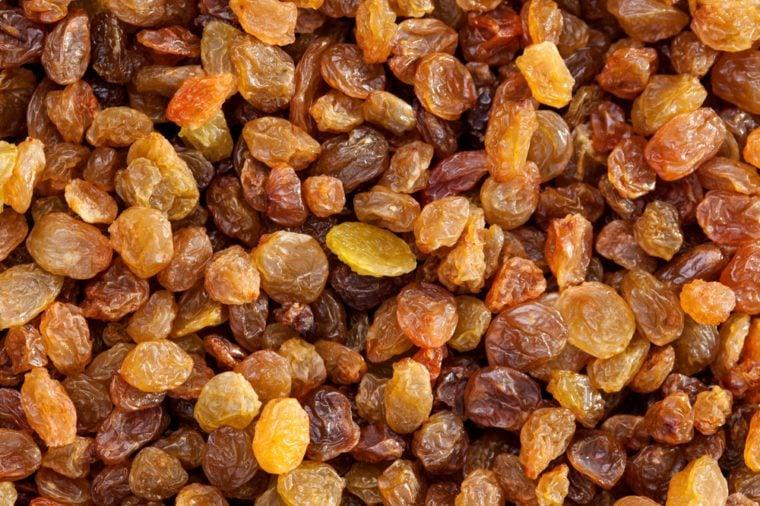 delicious Raisins as background Grape Raisin texture.