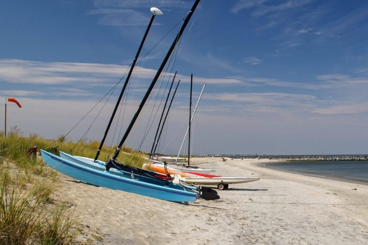 Summer Beach at Historic Lewes,Delaware