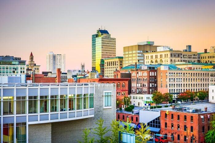 Worcester, Massachusetts, USA Skyline.