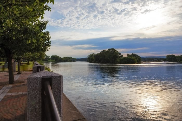View of Mohawk River in Schenectady New York