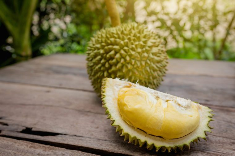 Durian is king of fruit in Thailand , Durian long-stemmed.