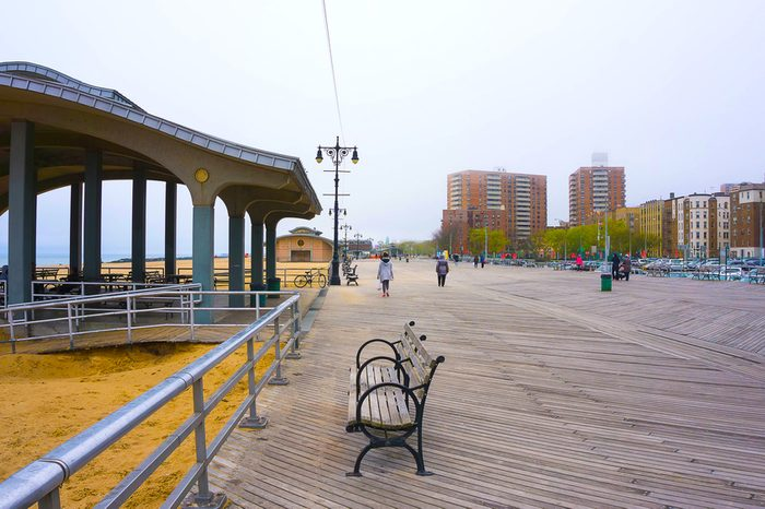Coney Island boardwalk, Brighton beach, Brooklyn, USA