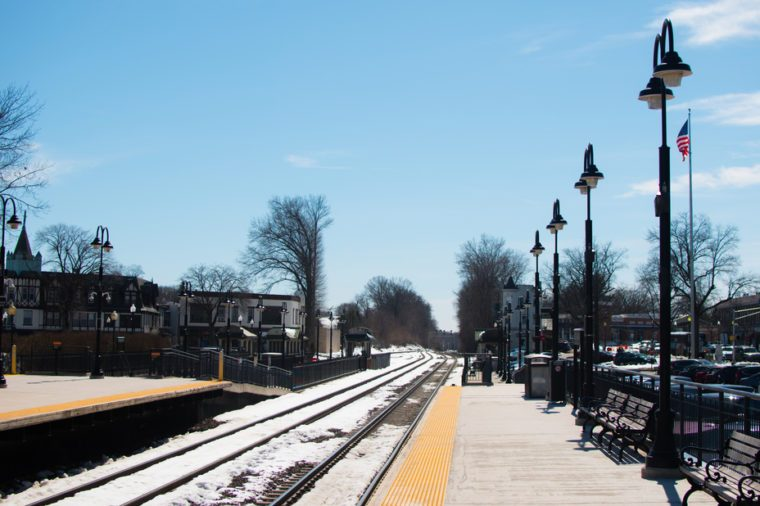 Ridgewood Station in New Jersey in Cold winter day