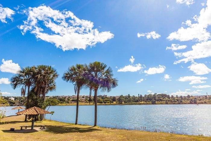 Uberlandia, Minas Gerais - Brazil. Sabia Park in a sunny day