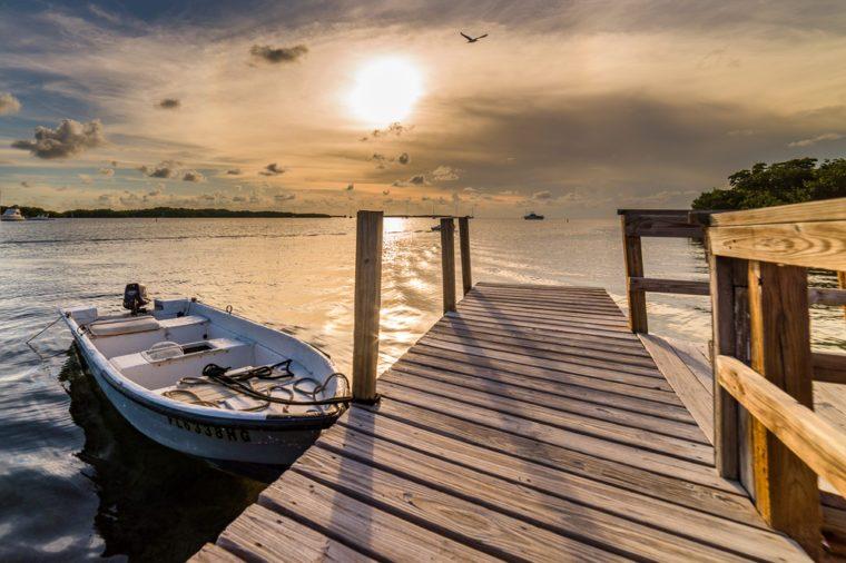 sunset in Islamorada Florida