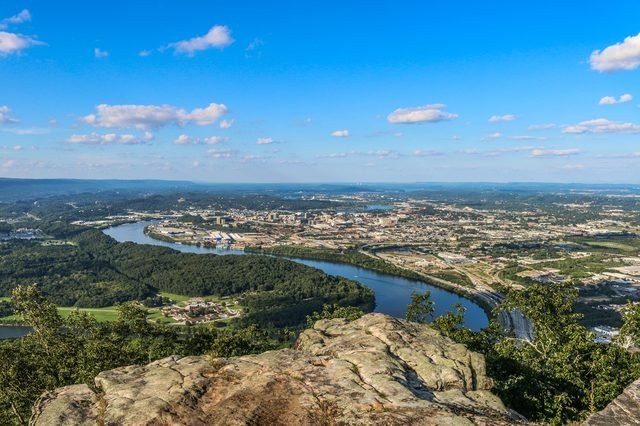 Tennessee River from atop Lookout Mountain in Chattanooga, TN