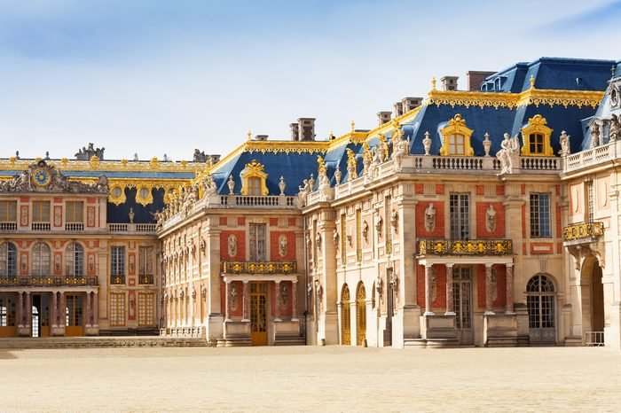 Marble courtyard at Palace of Versailles, France