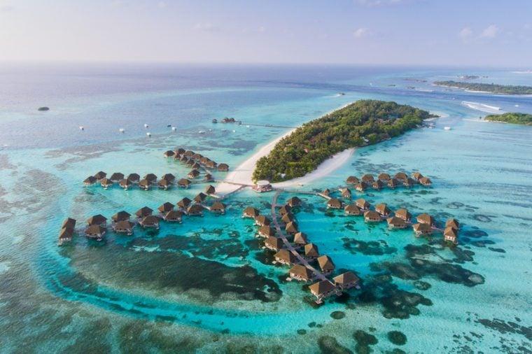Amazing bird eyes view in Maldives