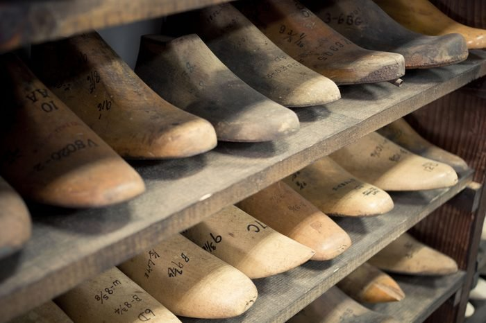 Row of Wood Shoe Inserts