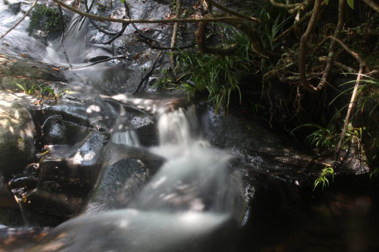 Beautiful waterfall in Bride's Pool, New Territories, Hong Kong, Long Exposure