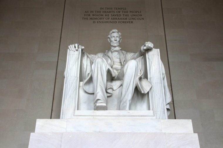 Lincoln Memorial in Washington D.C., United States.
