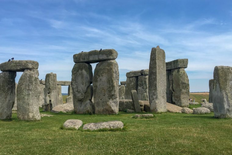 A sunny day at Stonehenge, England