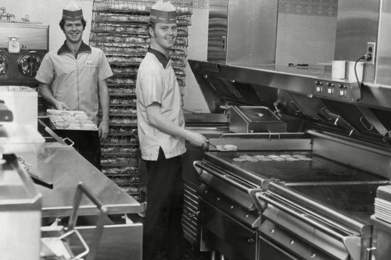 Staff Working In The Kitchen Of Mcdonalds Restaurant In Woolwich - 1974