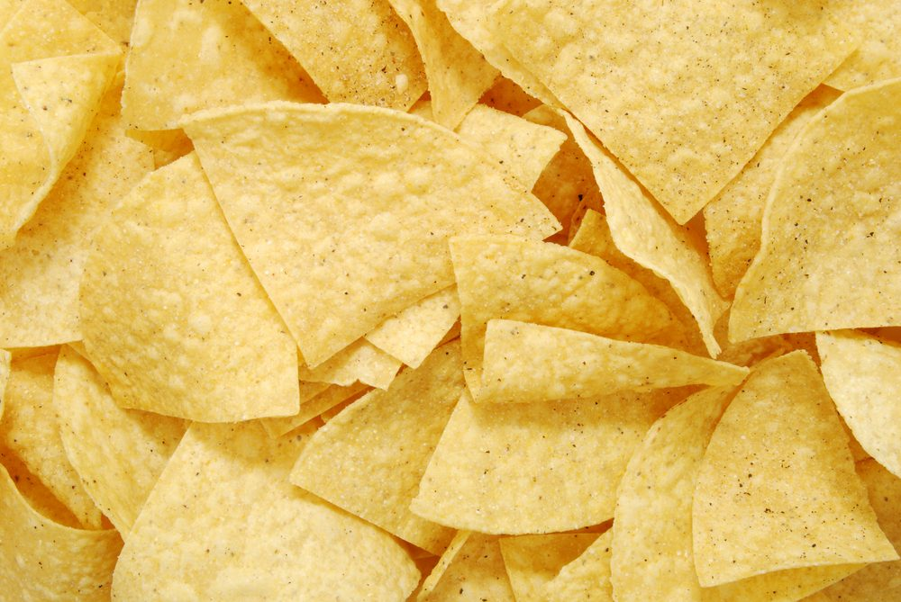 close up of tortilla chips