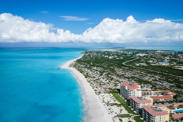Drone photo Grace Bay, Providenciales, Turks and Caicos
